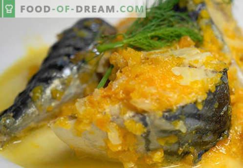 Makrellikaste - parimad retseptid. Kuidas õigesti ja maitsvaid küpsiseid makrelli hautada.