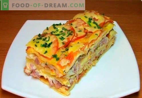Lasagna hakklihaga - õiged retseptid. Kuidas kiiresti ja maitsev süüa lasagna hakklihaga.