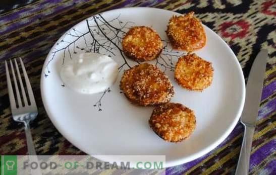 Röstitud rohelised tomatid on lihtsaid tooteid sisaldav ebatavaline suupiste. Retseptid grillitud roheliste tomatite jaoks