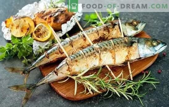 Grillitud makrell on parim marinaadi retsept ja serveeri. Kuidas valmistada grillitud makrellit vürtsikate ja vürtsikaste kastmetega
