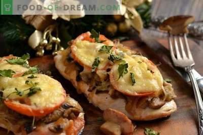 Kotlety z piersi kurczaka z serem i pomidorami
