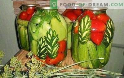 Valikuga kurgid: kuidas seda teha? Vali marinaad segatud kurkide jaoks tomatite, lillkapsas, suvikõrvits, paprika