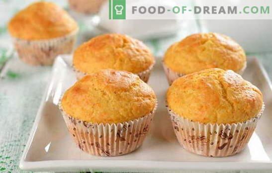 Kiiresti cupcake - me pakume maitsvat! Kiire retsept muffinitele: šokolaad, rosinad, halva, suhkrustatud puuviljad, kaneel