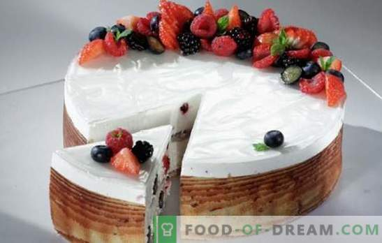 Berry kook kohupiimaga, marmelaadiga, valgukreemiga. Maitsvate küpsiste ja murekooki tainasalade saladused