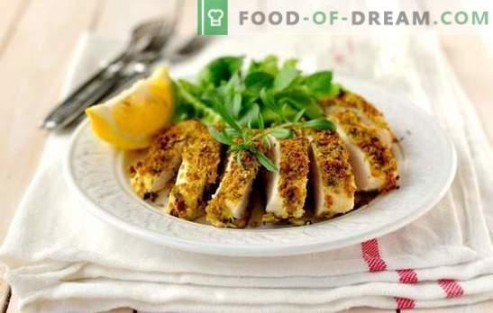 Kanarind kiiresti ja maitsev - see on võimalik! Kana rindade retseptid kiiresti ja maitsvad ahjus, aeglane pliit, pannil