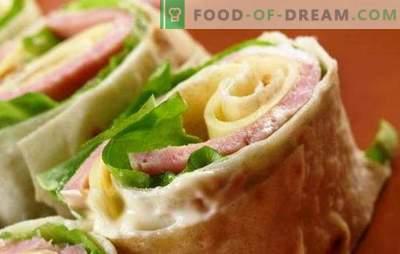 Võtke tee: pita leib vorstiga ja juustuga. Pita leiva vormi ja juustu kujundusvõimalused ja täidised