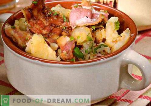 Saksa salat - valik parimaid retsepte. Kuidas õigesti ja maitsev kokk saksa salatit.