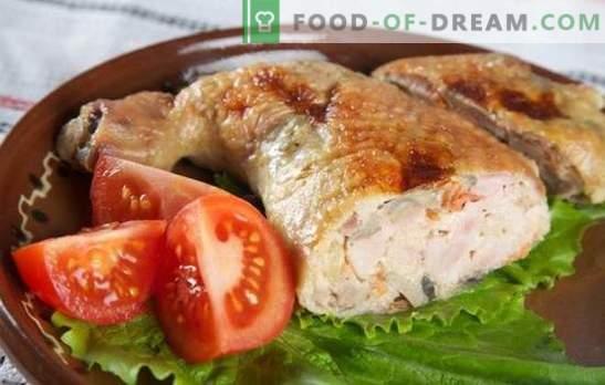 Seenega sink on suurepärane võimalus piduliku laua jaoks ja mitte ainult. Huvitavad retseptid kana jalgade valmistamiseks seentega