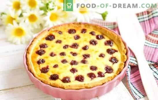 Küpsetamine kirssidega - hämmastav maitse! Erinevate kirsside küpsetiste retseptid: küpsised, pirukad, koogid, struudel, kuklid