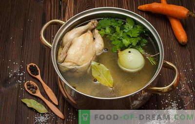 Kuidas keedetakse puljongit supp, supp, kastmed ja muud toidud. Retseptid: kuidas valmistada kana puljongit, veiseliha, kala, sealiha, luu