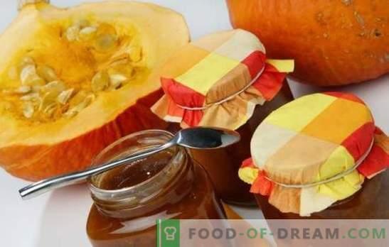 Pumpkin jam - särav kasulik delikatess reservis! Päevalillide kõrvitsamarjade retseptid tsitrusviljade, õunte, pähklitega