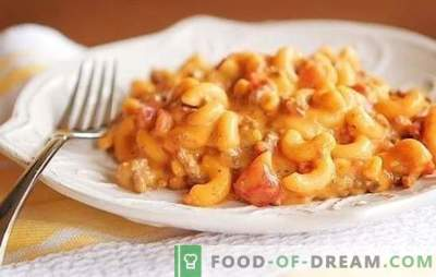 Pasta hakklihaga: samm-sammult retseptid rikkaliku õhtusöögi jaoks. Originaal pasta toidud hakklihaga (samm-sammult)