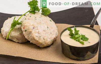 Aurutatud kotletid - toitumis- ja praktilised! Kuidas valmistada aurutatud piimapulki kana, liha, köögiviljade, teravilja ja seentega