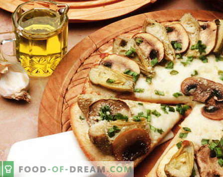 Pizza seentega - parimad retseptid. Kuidas korralikult ja maitsev küpsetada seene pitsat.