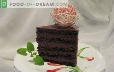 Šokolaadikook - erakordne magustoit! Retseptid õrnade ja alati maitsvate šokolaadiküpsiste kookide jaoks
