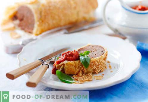 Liha strudel - parimad retseptid. Kuidas korralikult ja maitsvalt valmistada liha sisaldav struudel.