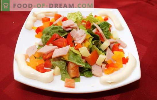 Kuidas valmistada salat paprikaga ja sinkiga. Ebatavalised maitsvad salat retseptid singi ja paprikaga