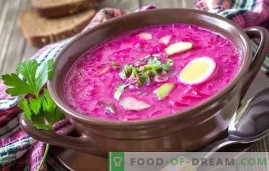 Peet: samm-sammult retsept kõige eredama supi jaoks. Klassikalise külma ja kuuma peedi valmistamine (samm-sammult retseptid)
