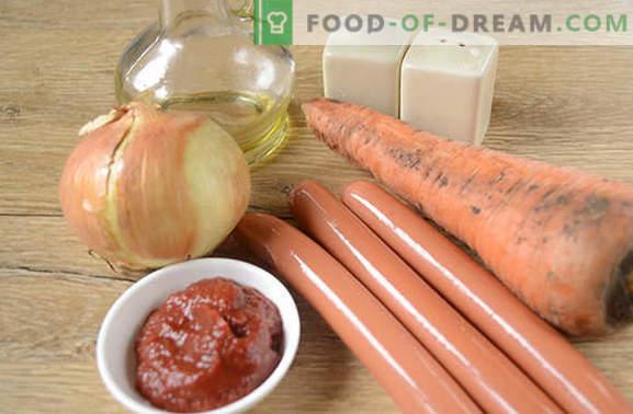 """Vorstikastmega tomatipastaga: maitsev """"nuus"""". Samm-sammult fotoretsept tomantho kastmega tavalistest vorstidest"""