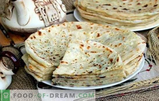 Kaukaasia Khychyny: samm-sammult retseptid tortillade täitmiseks. Kuidas valmistada juustu, liha, kartuli khihinat (samm-sammult)