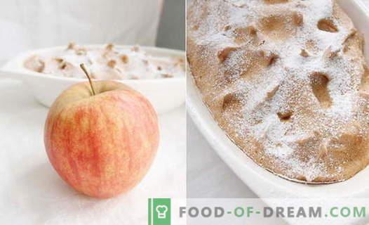 Apple Soufflé - parimad retseptid. Kuidas kiiresti ja maitsev kokk õuna sufli.