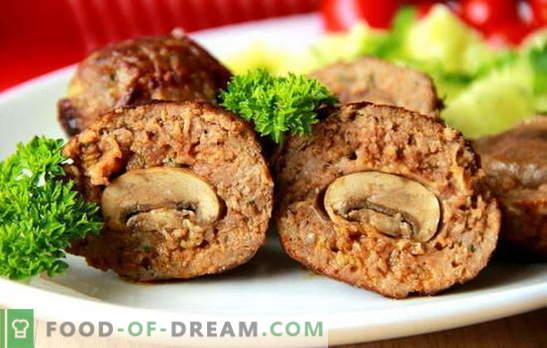 Täidetud lihapallid - üllatusega! Retseptid täidisega lihapallid seente, munade, juustu, maksaga, kartulitega, köögiviljadega
