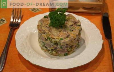 """Sałatka """"Obzhorka"""" z wątróbką - opcje na ulubione danie. Najlepsze przepisy na sałatkę """"Obzhorka"""" z kurczaka i wątróbki wołowej"""
