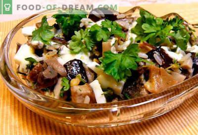 Salatid marineeritud šampinjonidega - viis parimat retsepti. Kuidas küpsetada marineeritud šampinjonidega salateid õigesti ja maitsvat.