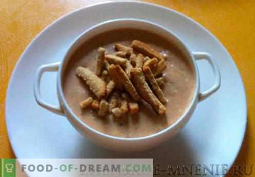 Cream soup - retsept koos fotodega ja samm-sammult kirjeldus