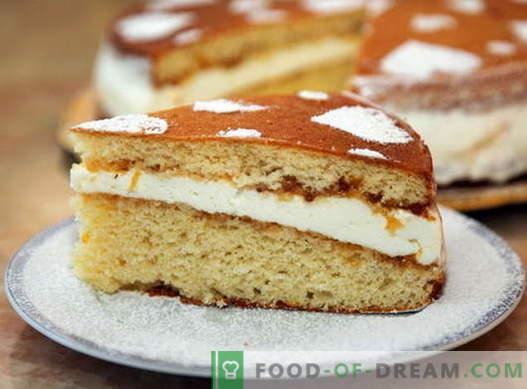 Sponge cake - parimad retseptid. Kuidas õigesti ja maitsev kokk käsnkook.