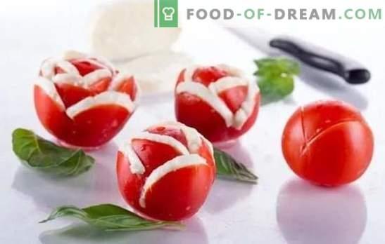Tomatipommid, salatid ja kõrvaltooted talveks. Talvise menüü jaoks tõestatud retseptid tomati suupisteteks: pipra, seente, pähklitega