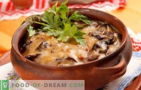 Kartulid seentega potis - igapäevaeluks ja pühadeks! Erinevad retseptid kartulite ja seentega pottides