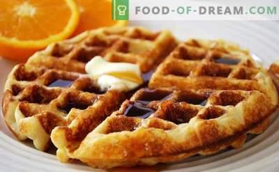 Belgia vahvlid - kuidas kodus kiiresti ja maitsvalt süüa teha