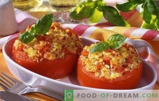 Küpsetatud tomatid juustuga ahjus - maitsvad ja väga lihtsad. Kümme retsepti küpsetatud tomatite juustuga ahjus