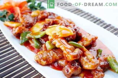 Magus liha - parimad retseptid. Kuidas korralikult ja maitsvalt valmistada magus liha.